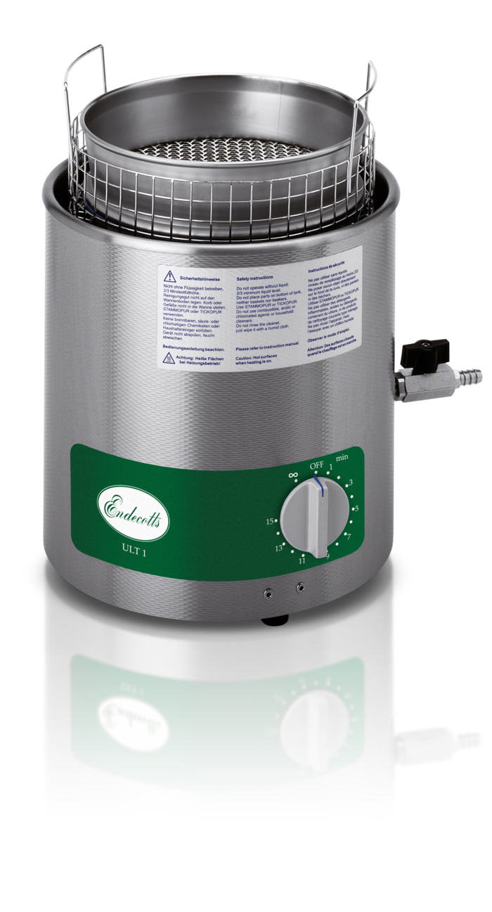 Ultrasonic Cleaner for easy and gently sieve cleaning